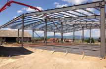 База за съхранение на зърно от метални конструкции